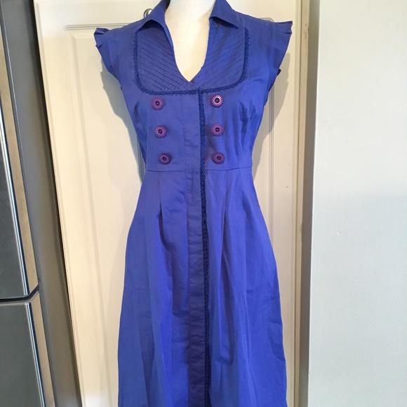 Anthropologie Maeve Dresses & Skirts - Anthropologie Maeve Royal Blue Dress Size 8